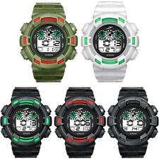 Mens LED Digital Date Alarm Waterproof Rubber Sports Army Watch Wristwatch
