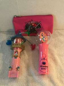 Disney Spinning Light Up Wands Lot of 2 With FREE Gift