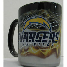 NFL San Diego Chargers Black & Chrome Jumbo Mug