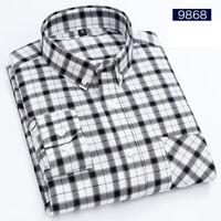 Mens Long Sleeves Dress Shirts Plaids Checks Business Camisas Multicolor ST6548