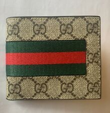 Authentic Gucci Web GG Supreme wallet