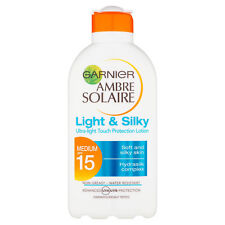 Garnier Ambre Solaire Light and Silky Sun Cream Lotion SPF15 200ml