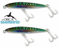 Set of 2 Shimano Orca Green Mackerel Sinking Pencil Lure OT140LEGM 5.5 Inch 2 oz