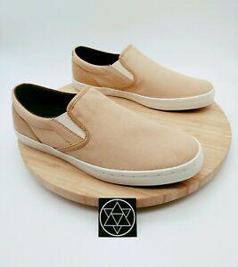 Cole Haan Men's Boat Shoes Deck Slip-on Canvas Sneaker Shoe Tan Men's Size 9