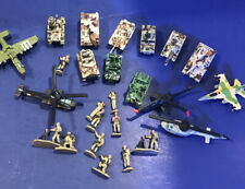 LOT of 25 MILITARY MICRO MACHINES - TANKS, PLANES, HELICOPTERS, FIGURES