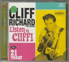 CLIFF RICHARD - listen to cliff / 21 today CD