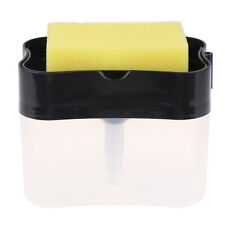 Soap Pump Dispenser with Sponge Holder Container Manual Press Soap Organize~id