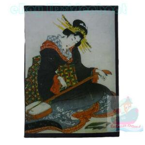 "Matted 8""x6""old photograph Japanese Yamato-e Japan Ukiyo-e Geisha Girl Painting"