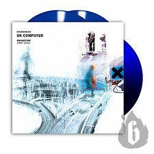 RADIOHEAD 3 x LP OK COMPUTER OKNOTOK BLUE Vinyl Ltd Edn. Sold-Out + Promo Sheet