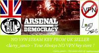 Arsenal of Democracy Steam key NO VPN Region Free UK Seller