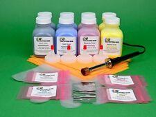 HP CE320A CE321A CE322A CE323A Two 4-Color Toner Refill Kit w/ Hole-Making Tool