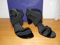Stuart Weitzman New Womens Midexeter Black Elastic Heels 10.5 M Shoes NWB