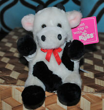 Russ Vintage Lil' Cliff Stuffed Animal Plush Farm Cow 1980 w Tag Cute Retro