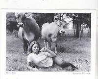 """*Postcard-""""Girl @ Promo Spot In Farm Field"""" -Mid-1970's-  *Louisville TV (A51-4)"""