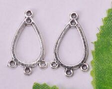 40pcs tibetan silver earring connectors charm findings 22mm B102