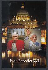Mayreau Grenadines St Vincent 2014 neuf sans charnière le pape Benoît XVI 2v s / s Vatican