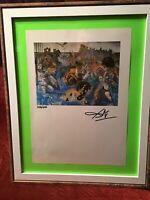 Salvador Dali Original Hand Signed By Dali Lithograph - 1974, COA & New Frame