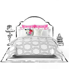 Kate Spade New York ~ Bow Tile ~ Full/Queen 3pc Comforter Set Gray White