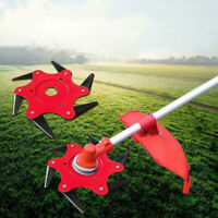 6 Steel Blades Razors 65Mn Lawn Mower Grass Eater Trimmer Head Brush Cutter DEAN