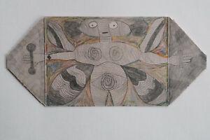 art brut art singulier outsider art - Pierre Albasser - 1 dessin de 2006