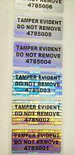 1000 TEDNR Numbered Security Hologram Tamper Evident Labels Sticker Seals