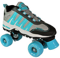 Sonic Cruiser Roller Skates for Kids & Adults  - Teal Quad Skates
