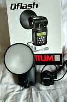 flash Quantum T5D-r in box with Canon TTL adaptater(D23w)