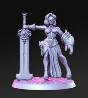 JUSTICIA SEXY FEMALE AUTOMATA WARRIOR SCALE 32mm ZOMBICIDE DnD ROL WARHAMMER