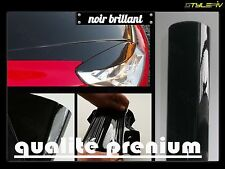 Film vinyle covering noir brillant 152 x 50 cm thermoformable adhesif