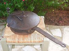 French Antique Bistro Coffee Roaster Hand Crafted RARE - PAN Shaped