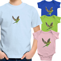 Toddler Kids Tee Shirt Infant Baby Bodysuit Romper Gift Print Cute Budgie Bird
