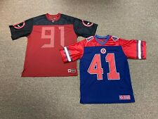 Marvel Avengers Deadpool #91 Large & Captain America #41 Small Football Jersey