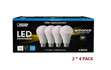 Feit Dimmable LED 5000K Daylight 2 * 4-Pack (100W Replacement) 17.5W