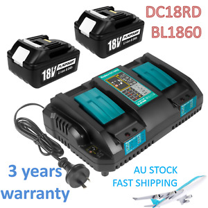 For Makita BL1850 18V Lithium Ion Battery & Charger Set DC18RC DC18RD BL1830 LXT