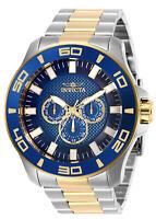 Invicta Men's Watch Pro Diver Chronograph Blue Dial Two Tone Bracelet 27998