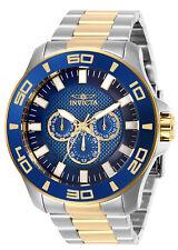 Invicta мужские часы хронограф Pro Diver синий циферблат два тона браслет 27998