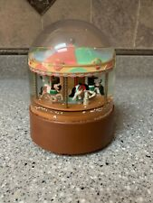 Willitts Design Musical Carousel Horse Water Snow Globe Vintage wind up Musical