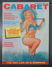 1956 NOVEMBER CABARET #7 ADULT GENTLEMAN MAGAZINE JENNIE LEE PIN-UP CENTERFOLD