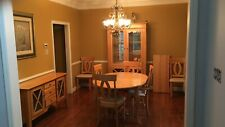 Canadel dining room set ,light colored,6 chairs ,2 cabinets,extension