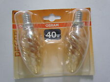 Pack de 2 ! OSRAM Ampoule E14 40W 240V DECOR BW or Ampoule bougie tournée