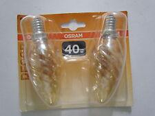2er-Pack! OSRAM Glühlampe E14 40W 240V DECOR BW GOLD Kerzenlampe Gedreht