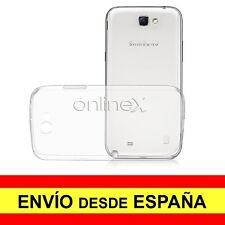 Funda Silicona SAMSUNG GALAXY NOTE 2 Carcasa Transparente TPU ¡ESPAÑA! a2092