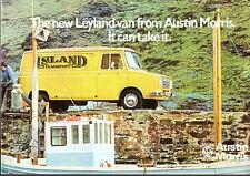 Leyland Austin Morris Sherpa 1974-75 UK Market Foldout Brochure Van Pick Up Bus