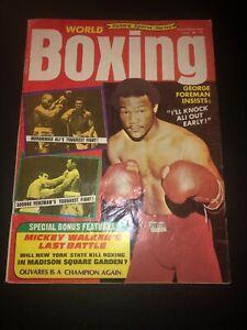 NOVEMBER 1974 ISSUE WORLD BOXING MAGAZINE GEORGE FOREMAN MUHAMMAD ALI COVER