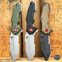"""8.5"""" MILITARY Tactical Tracker Spring Assisted Open Folding Blade Pocket Knife"""