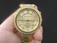 New Old Stock MICHAEL KORS Parker MK5354 Chronograph GP Quartz Women Watch