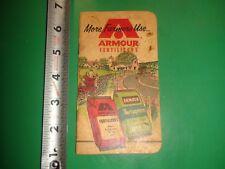 JB475 Vintage 1960 Calendar Memo Book Ad Armour Fertilizers