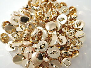 100 X 10mm Gold Blazer Shank Sewing Knitting Buttons Shank Suit Jacket