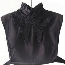 Femme Faux Col  noir noeud neuf