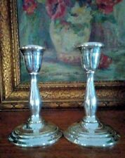 GORHAM SUFFOLK SILVER PAIR MANTEL CONSOLE CANDLE HOLDERS CANDLE STICKS K 639